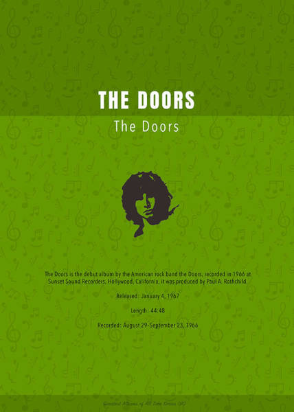 Wall Art - Mixed Media - The Doors Greatest Albums Of All Time Minimalist Series by Design Turnpike