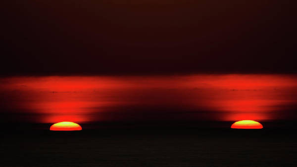 Photograph - The Double Sunset by Jorg Becker