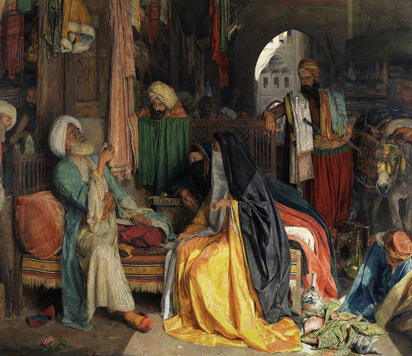 Wall Art - Painting - The Doubtful Coin by John Frederick Lewis