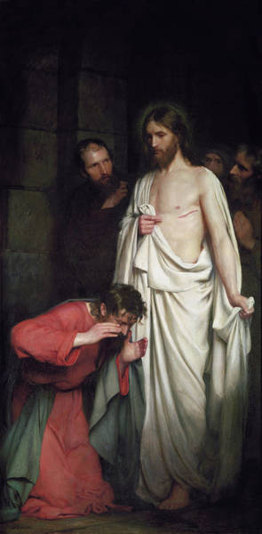 Wall Art - Painting - The Doubting Thomas, 1881 by Carl Bloch