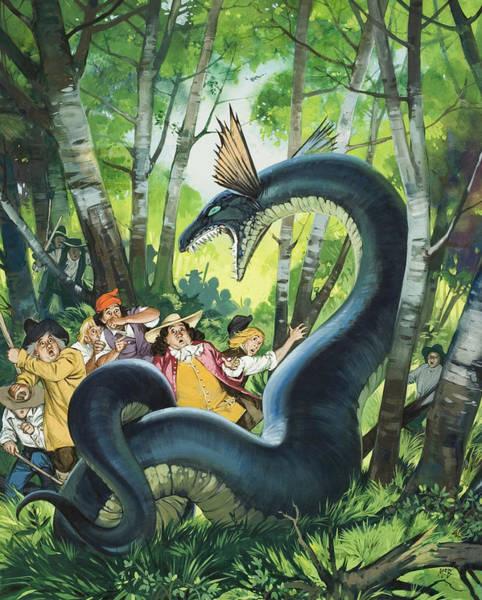 Wall Art - Painting - The Dragon Of Birchwood by Angus Mcbride