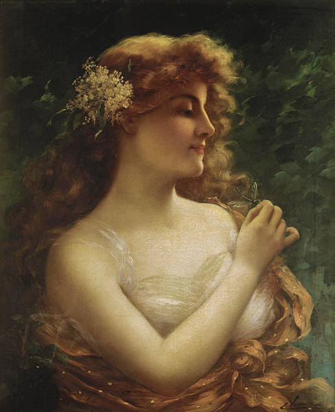 Wall Art - Painting - The Dragonfly by Emile Vernon