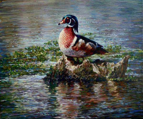 Drake Wall Art - Painting - The Drakes by Laurie Snow Hein