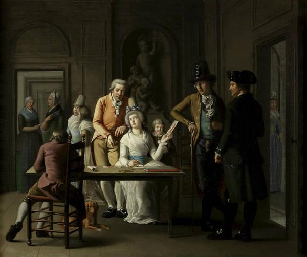 Painting - The Drawing Lesson Of Anna Charlotte Didier De Boncour by Willem Bartel van der Kooi