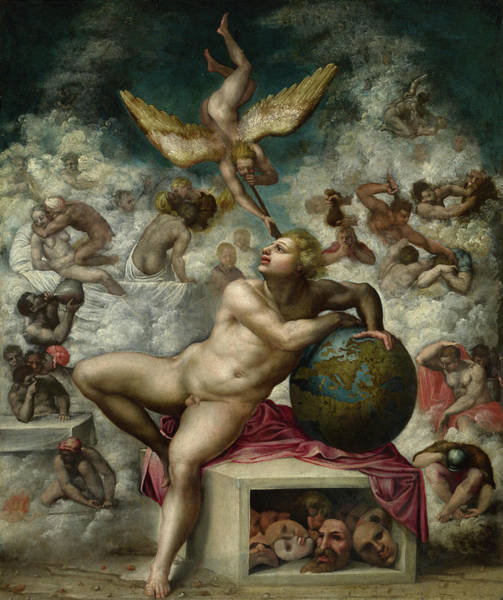 Virtue Painting - The Dream Of Human Life, After 1533 by After Michelangelo