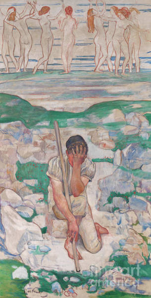 Wall Art - Painting - The Dream Of The Shepherd, 1896  by Ferdinand Hodler