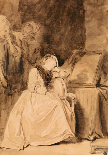 Drawing - The Dreamer by Jean-Honore Fragonard