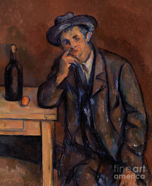 Wall Art - Painting - The Drinker, 1891 by Paul Cezanne