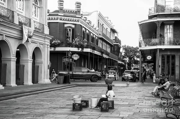 Wall Art - Photograph - The Drummer At Jackson Square New Orleans by John Rizzuto