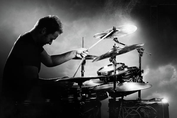 Roll Photograph - The Drummer by Johan Swanepoel
