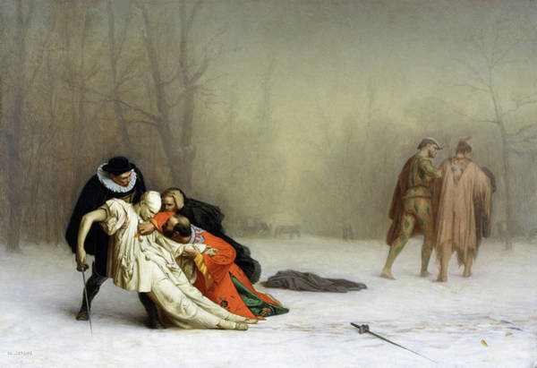 Wall Art - Painting - The Duel After The Masquerade - Digital Remastered Edition by Jean-Leon Gerome
