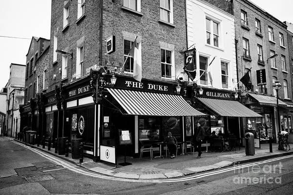 Wall Art - Photograph - The Duke And Gilligans Pub Start Of The Dublin Literary Trail Dublin Republic Of Ireland Europe by Joe Fox