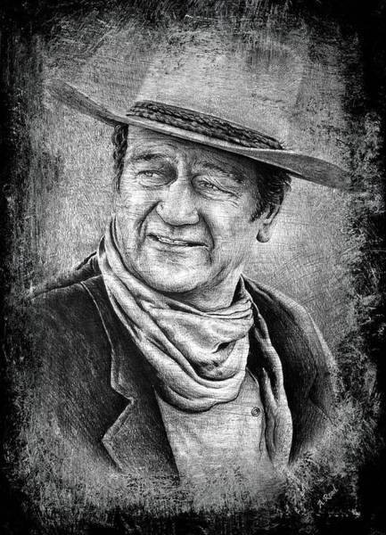 Wall Art - Drawing - The Duke Black Surround by Andrew Read