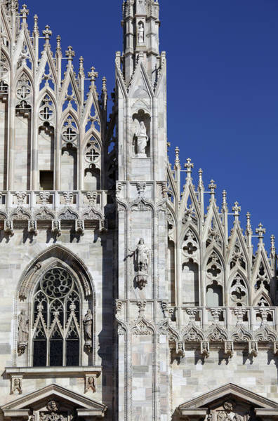 Ornate Photograph - The Duomo Cathedral, Milan by Massimo Pizzotti