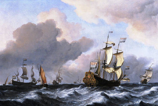 Wall Art - Painting - The Dutch Ship by Willem van de Velde the Younger