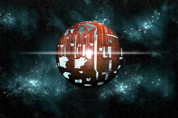 Digital Art - The Dyson Sphere  by Marc Ward