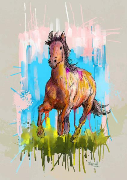 Uganda Painting - The Earth Horse  by Anthony Mwangi