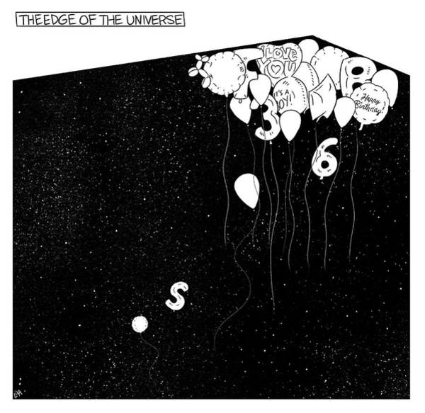 Edge Drawing - The Edge Of The Universe by Lila Ash