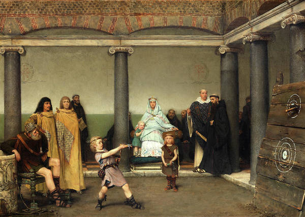 Wall Art - Painting - The Education Of The Children Of Clotilde And Clovis by Sir Lawrence Alma-Tadema