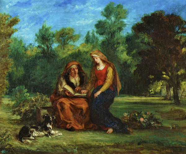Wall Art - Painting - The Education Of The Virgin - Digital Remastered Edition by Eugene Delacroix