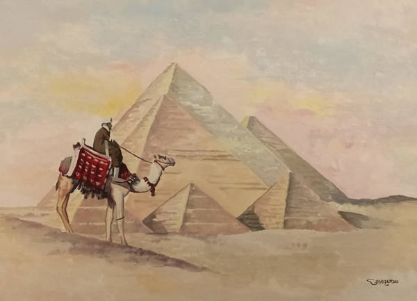 Painting - The Egyptian Pyramids by Said Marie