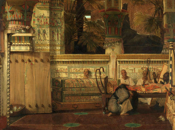Wall Art - Painting - The Egyptian Widow, 1872 by Lawrence Alma-Tadema