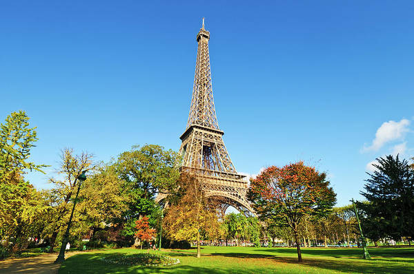 Photograph - The Eiffel Tower With Some Autumnal by Tom Bonaventure