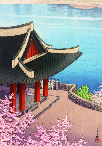 Wall Art - Painting - The Eight Views Of Korea, Pyongyang Spring - Digital Remastered Edition by Kawase Hasui