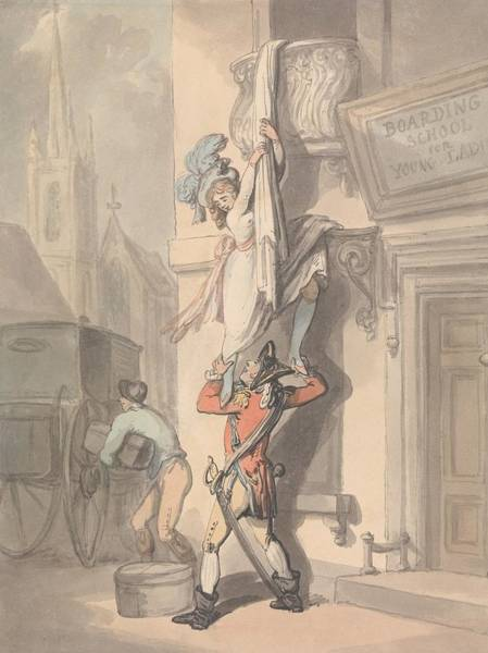 Drawing - The Elopement by Thomas Rowlandson
