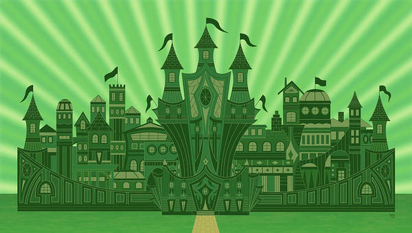 Wicked Witch Digital Art - The Emerald City by Mark Gillespie