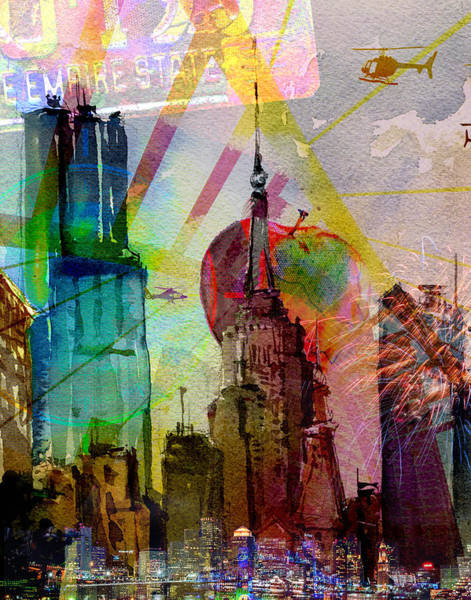 The Empire State Building Digital Art - The Empire State Building, Nyc Series by Kyle Willis