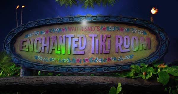 Adventureland Photograph - The Enchanted Tiki Room At Walt Disney World by Mark Andrew Thomas
