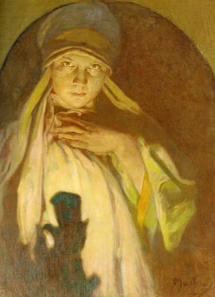 Wall Art - Painting - The Enchantress  by Alphonse Mucha