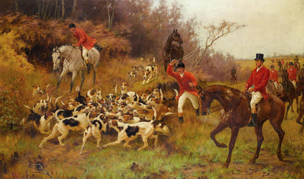 Wall Art - Painting - The End Of The Hunt by Thomas Blinks