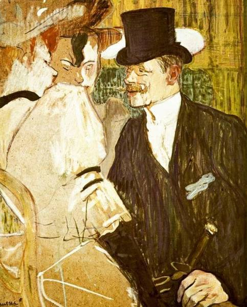 Wall Art - Painting - The Englishman At The Moulin Rouge - 1892 by Henri de Toulouse-Lautrec