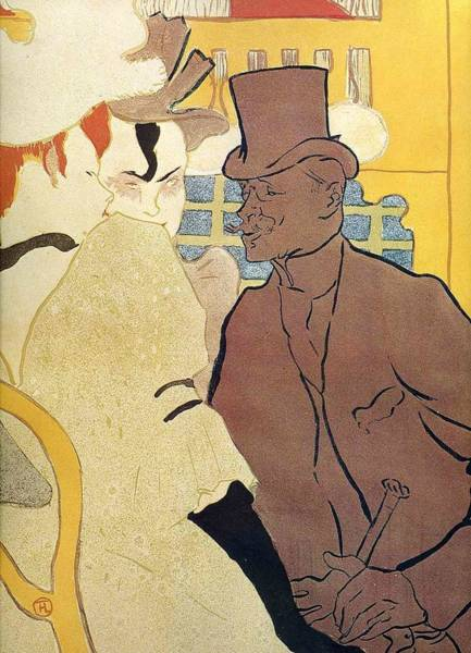Wall Art - Painting - The Englishman At The Moulin Rouge  - 1892 - Pc by Henri de Toulouse-Lautrec