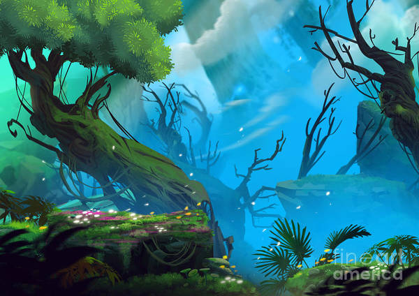 Mystery Digital Art - The Entrance Of Mystery Valley In A by Nextmarsmedia