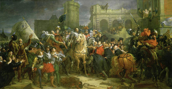 Wall Art - Painting - The Entry Of Henri Iv Into Paris, 1594 by Francois Gerard