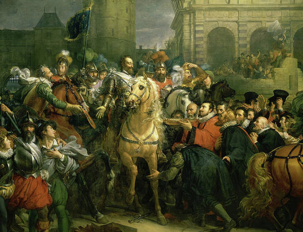 Wall Art - Painting - The Entry Of Henri Iv Into Paris by Francois Gerard