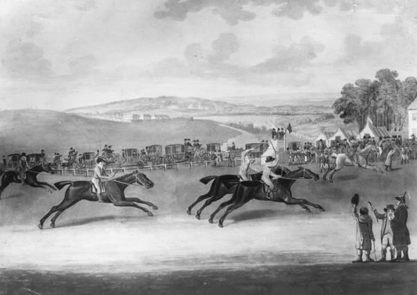 Epsom Derby Photograph - The Epsom Derby by Rischgitz