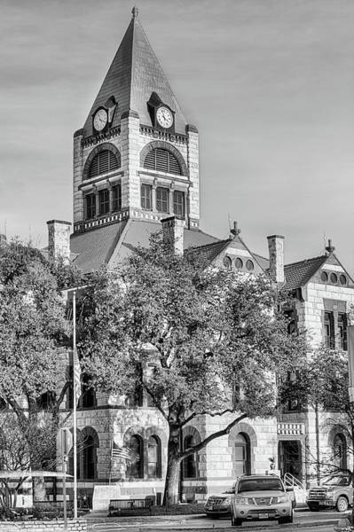 Wall Art - Photograph - The Erath County Courthouse Black And White by JC Findley