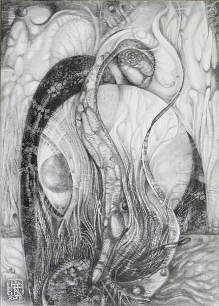 Drawing - The Erratic Gathering Of Undisciplined Biomorphic Objects  by Otto Rapp