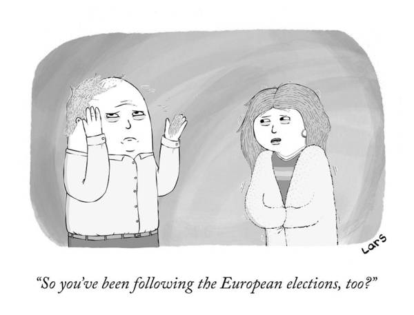 Drawing - The European Elections by Lars Kenseth