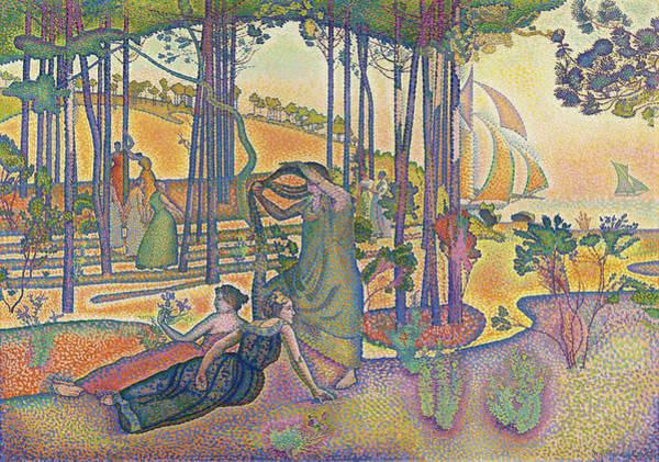 Wall Art - Painting - The Evening Air, 1893 by Henri-Edmond Cross