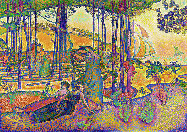 Wall Art - Painting - The Evening Air - Digital Remastered Edition by Henri Edmond Cross