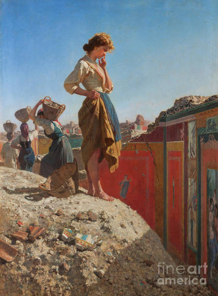 Wall Art - Painting - The Excavations Of Pompeii by Francesco Paolo Palizzi
