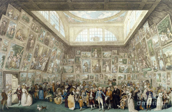 Wall Art - Painting - The Exhibition Of The Royal Academy, 1787 by Pietro Antonio Martini
