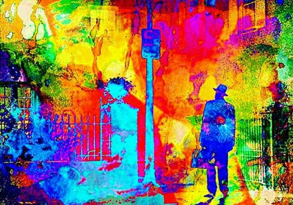Possessed Digital Art - The Exorcist Priest Abstract by Bob Smerecki