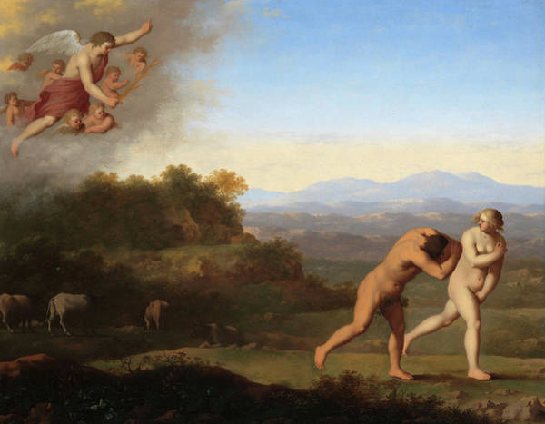 The Creation Of Adam Wall Art - Painting - The Expulsion From Paradise, 1646 by Cornelis van Poelenburch