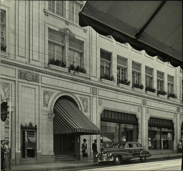 Neiman Photograph - The Exterior Of The Neiman Marcus Store by Nina Leen